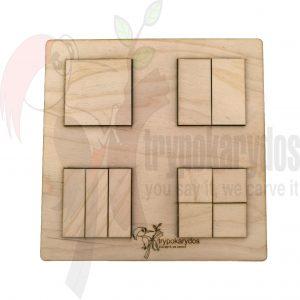 Εκπαιδευτικό Παζλ Σχημάτων μέθοδος Montessori (Μοντεσσόρι) (Κωδ. 00852)